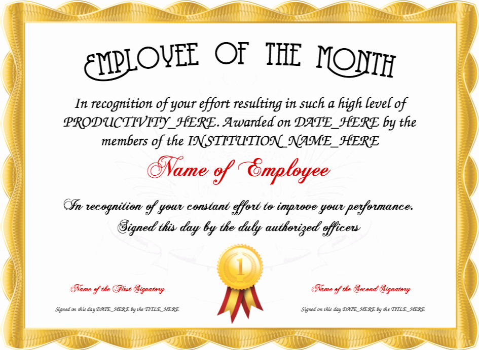 Employee Of the Quarter Certificate Unique Resume Responsibilities Sample Certificate Recognition