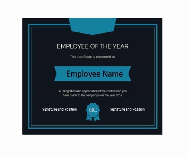 Employee Of the Year Certificates Awesome 30 Printable Employee Of the Month Certificates