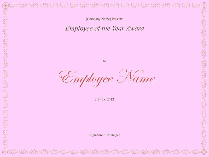Employee Of the Year Certificates Beautiful Download Employee the Year Award Free Certificate