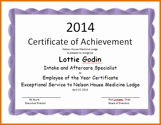 Employee Of the Year Certificates Best Of Employee Of the Year Certificatereference Letters Words