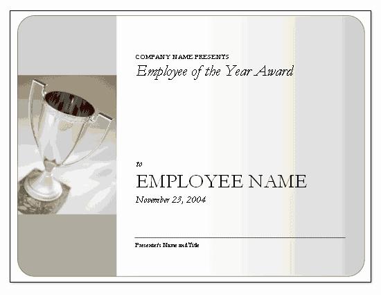 Employee Of the Year Certificates Elegant Employee the Year Award Free Certificate Templates In