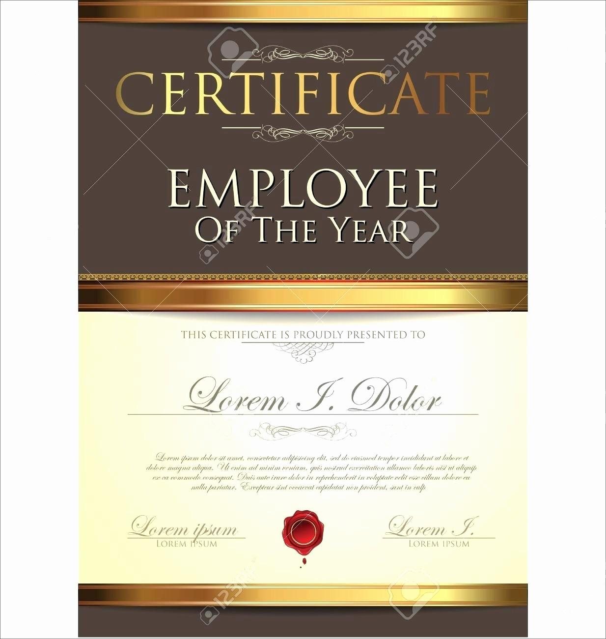 Employee Of the Year Certificates Elegant Template Employee Appreciation Certificate Template