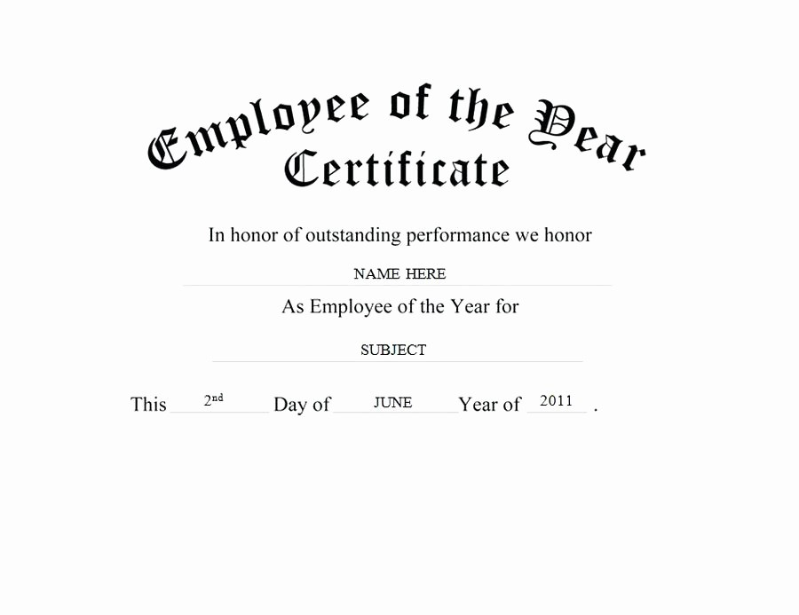 Employee Of the Year Certificates Fresh Employee the Year Certificate Clip Art Wording Free