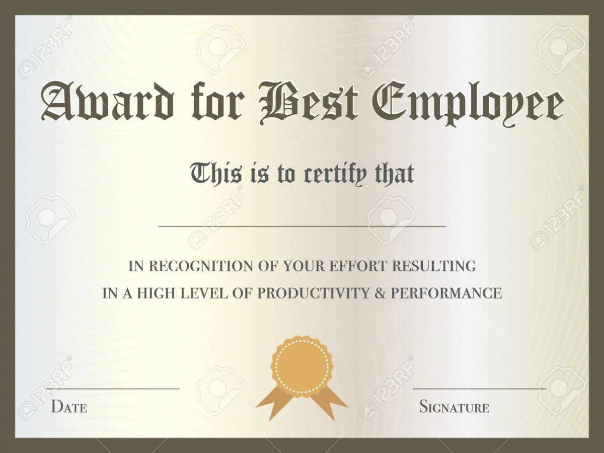 Employee Of the Year Certificates New Best Employee the Year Award Certificate 0 – Ed Poor