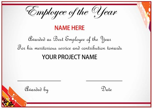 Employee Of the Year Certificates Unique 20 Free Certificates Appreciation for Employees