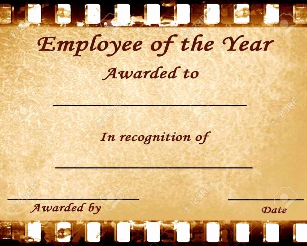Employee Of the Year Certificates Unique Employee the Year Certificates Template Update234