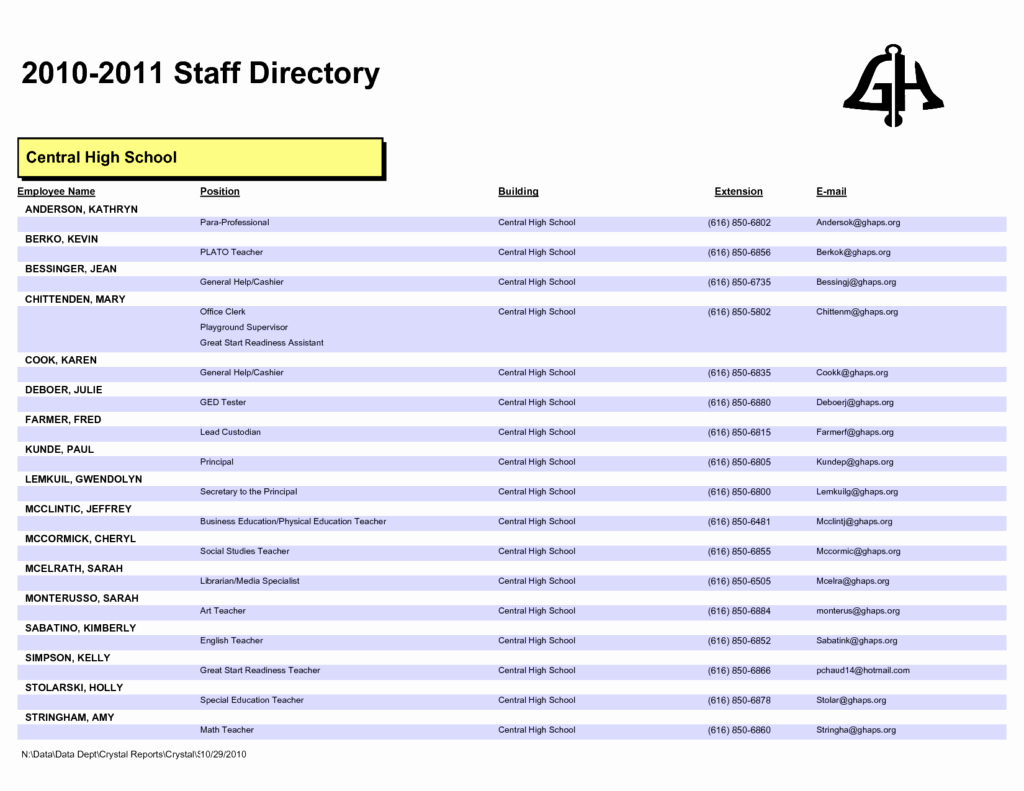 Employee Phone List Template Free Best Of Outstanding Employee Directory Template for Pany V M
