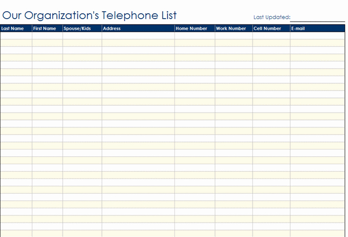 Employee Phone List Template Free Inspirational Best S Of Contact Information Template Phone