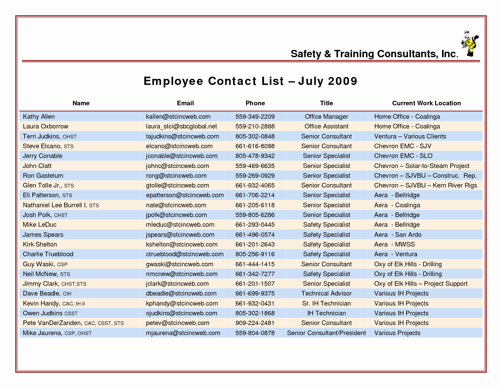 Employee Phone List Template Free Unique Pany Contact List Template Portablegasgrillweber