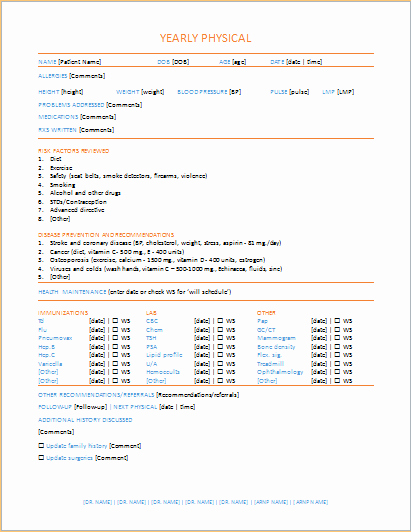 Employee Physical Exam form Template Lovely Index Of Cdn 21 2005 750