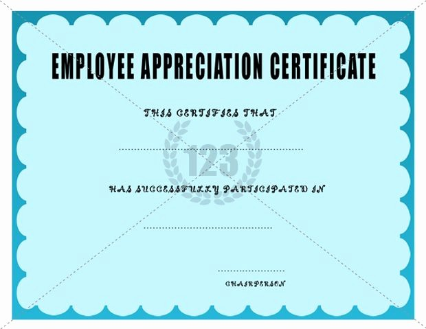 Employee Recognition Certificates Templates Free Awesome Employee Appreciation Certificate Template Certificate
