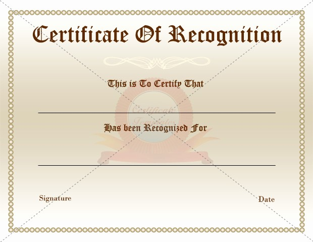 Employee Recognition Certificates Templates Free Beautiful Certificate Of Appreciation or Recognition Award Template