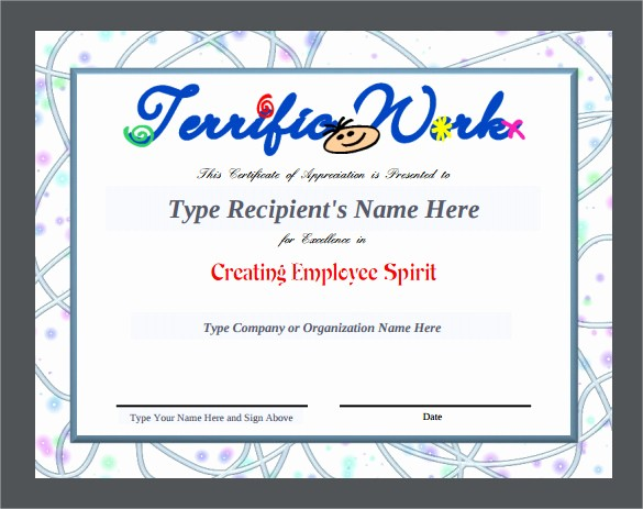 Employee Recognition Certificates Templates Free Fresh 24 Sample Certificate Of Appreciation Temaplates to