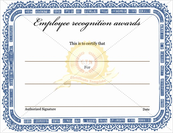 Employee Recognition Certificates Templates Free Lovely 6 Award Templates Doc Pdf