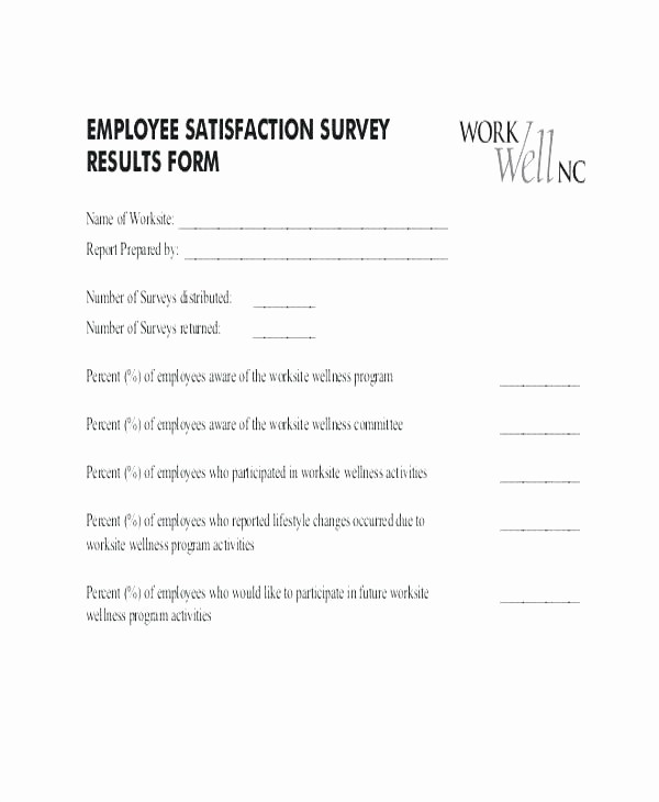 Employee Satisfaction Survey Template Word Awesome Sample Questionnaire Templates In Word Free Employee