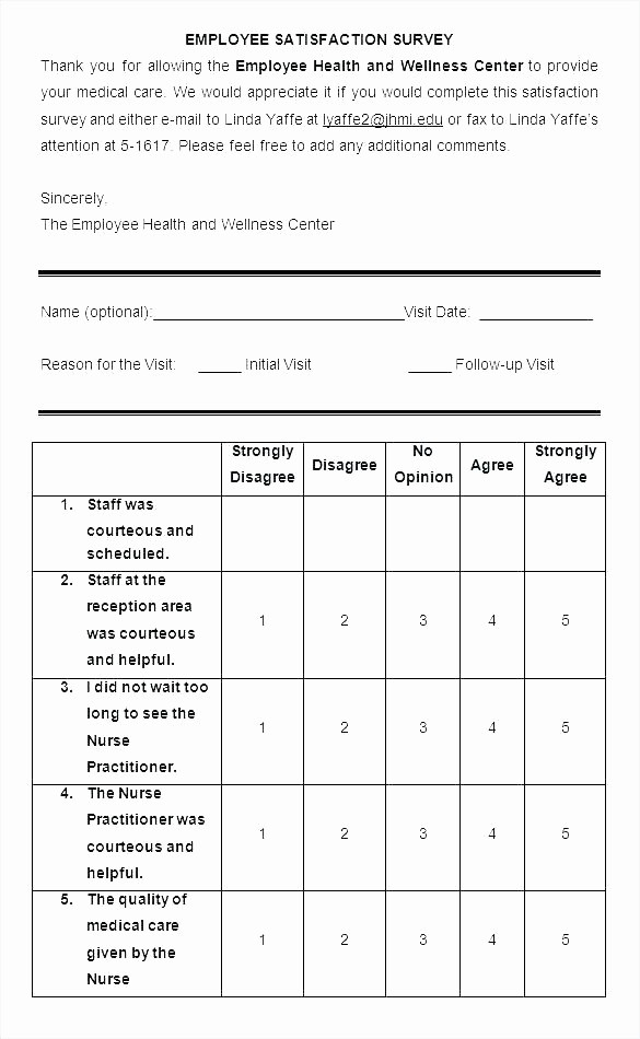 Employee Satisfaction Survey Template Word Inspirational Customer Survey Template Word – Puebladigital