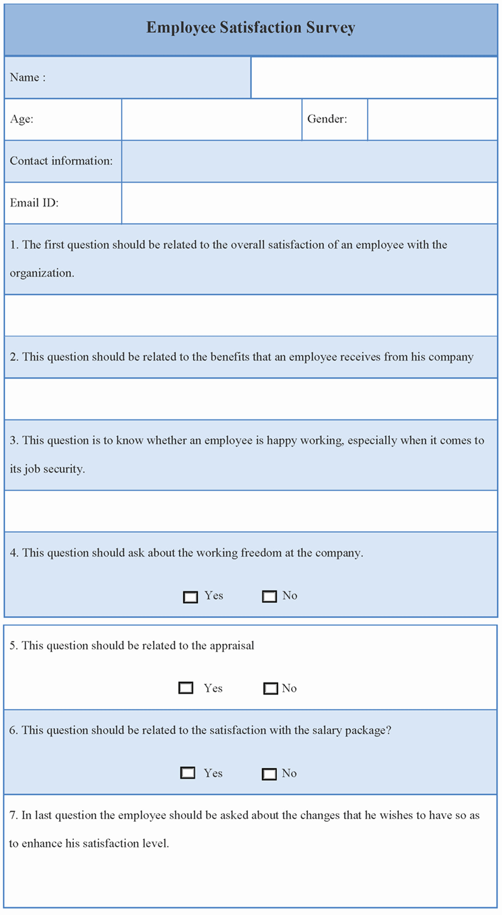 Employee Satisfaction Survey Template Word Unique Survey Template for Employee Satisfaction Sample Of