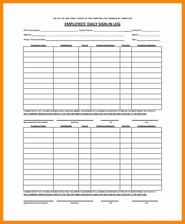 Employee Sign In Sheet Excel Inspirational Classroom Sign Out Sheet Template In Log Post and Word Doc