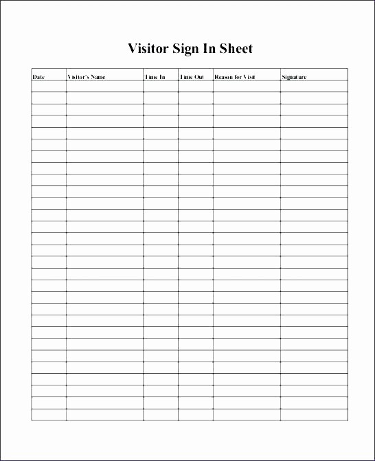 Employee Sign In Sheet Excel Unique Time Log Template Excel – Ooojo