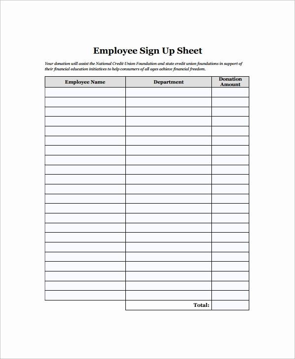 Employee Sign In Sheet Pdf Beautiful 16 Employee Sign In Sheets