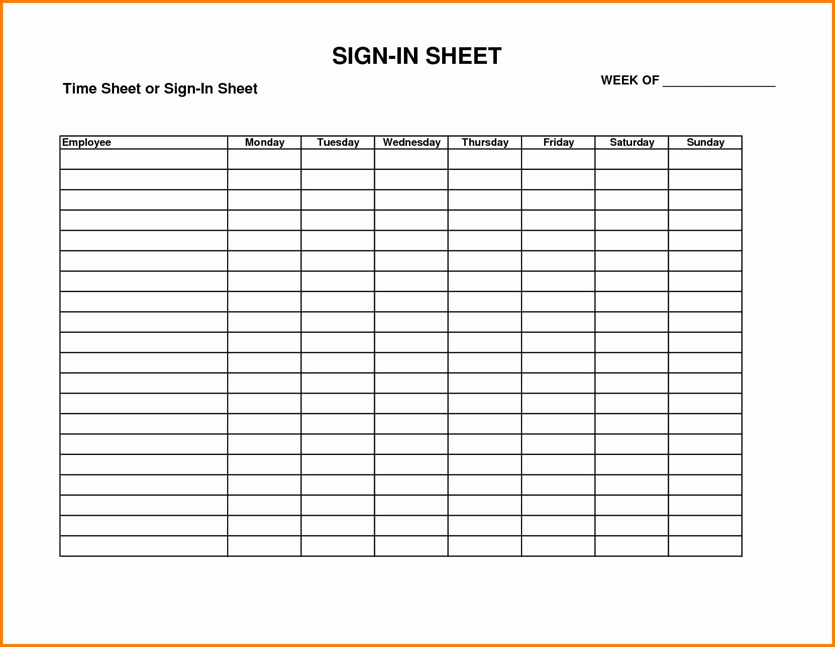 Employee Sign In Sheet Weekly Beautiful Sign In Timesheet Idealstalist