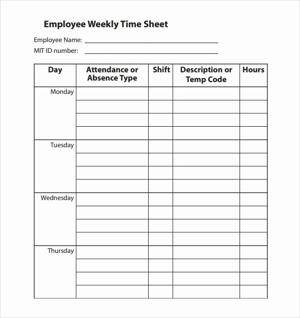 Employee Sign In Sheet Weekly Best Of Employee Clock In Sheet