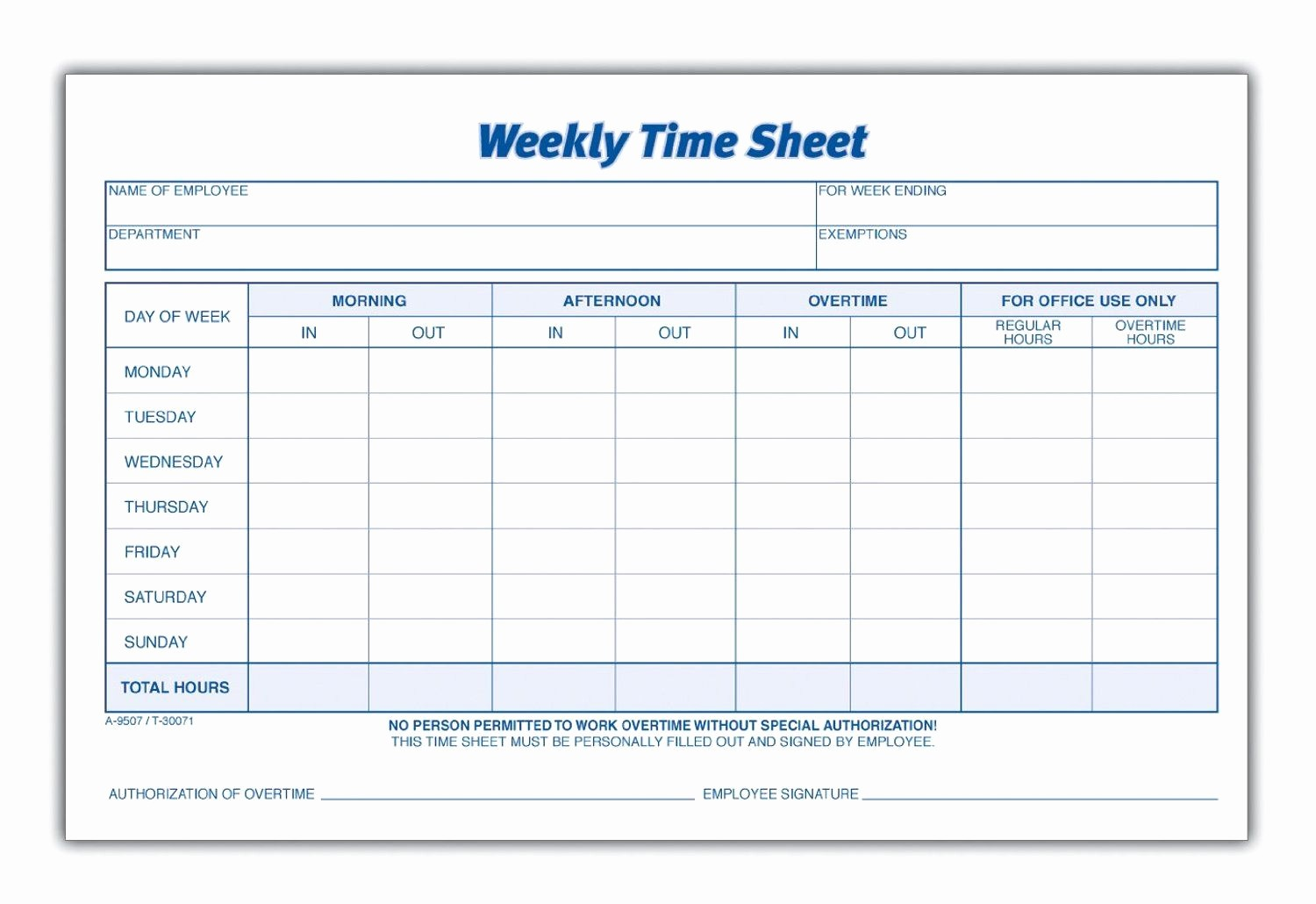 Employee Sign In Sheet Weekly Best Of Weekly Employee Time Sheet Projects to Try