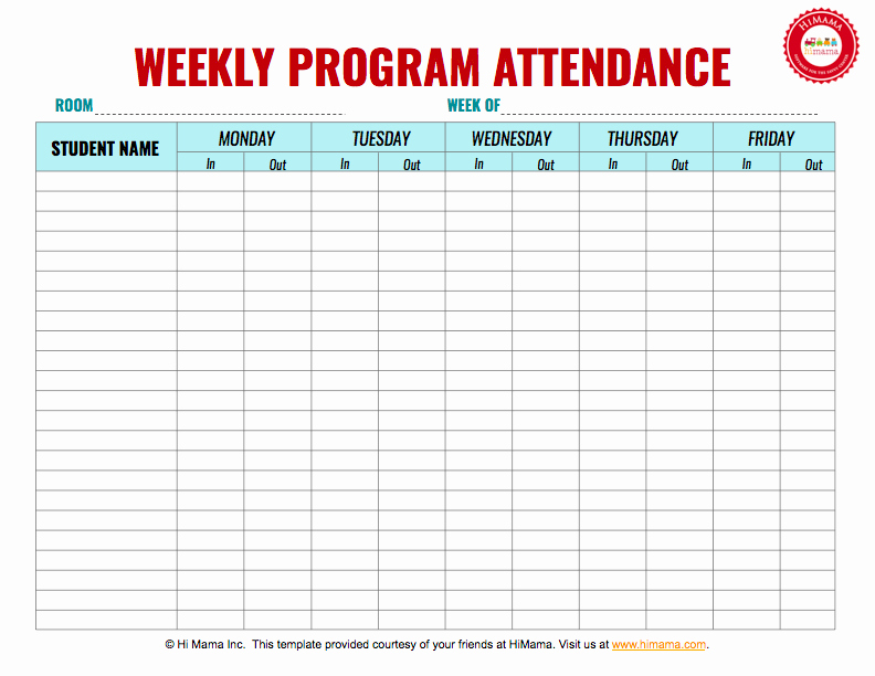 Employee Sign In Sheet Weekly Lovely Daycare Sign In Sheet Template Weekly M F