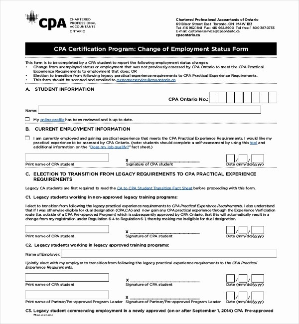 Employee Status Change Template Excel Beautiful Sample Employment Status Change Letter Resources Step by