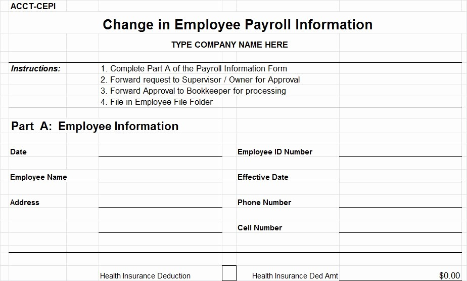 Employee Status Change Template Excel Best Of Employee Pay Roll Pertamini