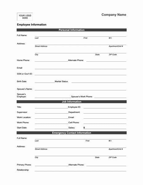Employee Status Change Template Excel Elegant Employee Address Change form Template Alfonsovacca