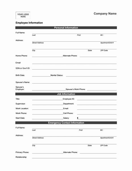 Employee Status Change Template Excel Elegant Employee Address Change form Template Alfonsovacca