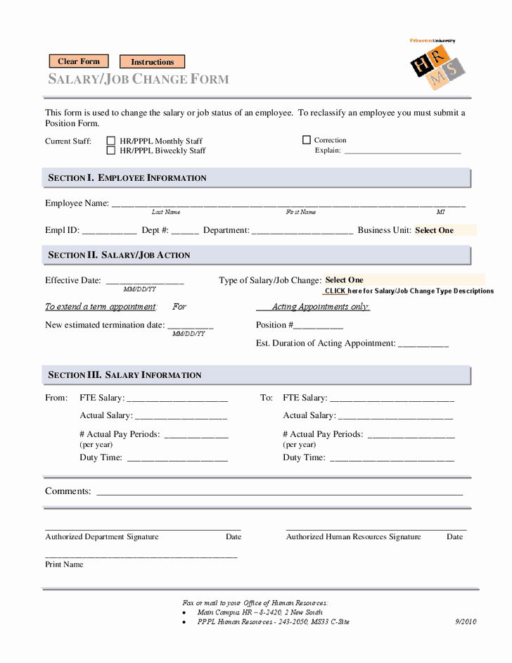 Employee Status Change Template Excel Inspirational 6 Employee Status Change forms Word Excel Templates