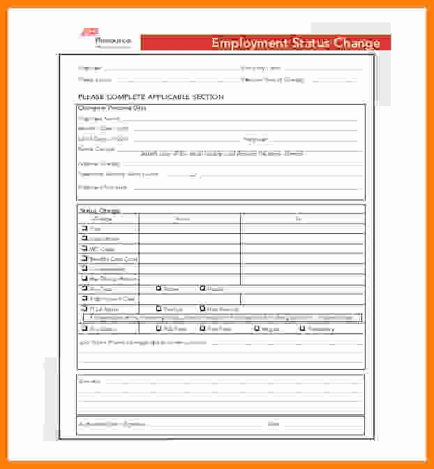 Employee Status Change Template Excel New Adp Employee Status Change form Best Employee 2018