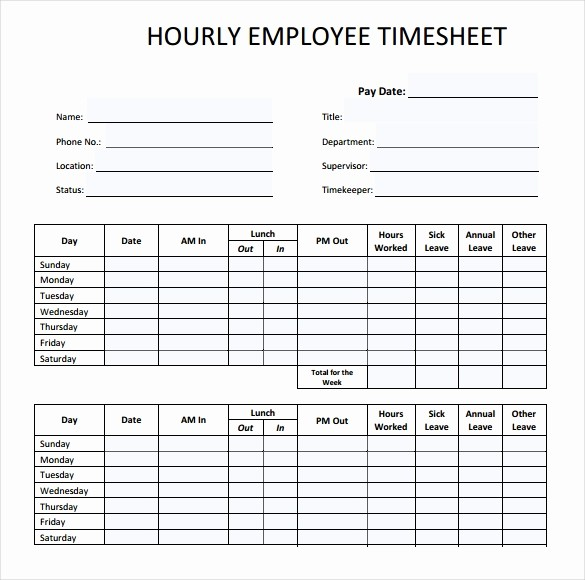 Employee Time Cards Template Free Awesome 22 Employee Timesheet Templates – Free Sample Example