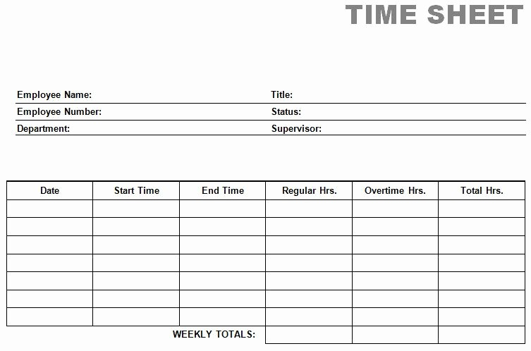 Employee Time Cards Template Free Awesome Free Time Card Template