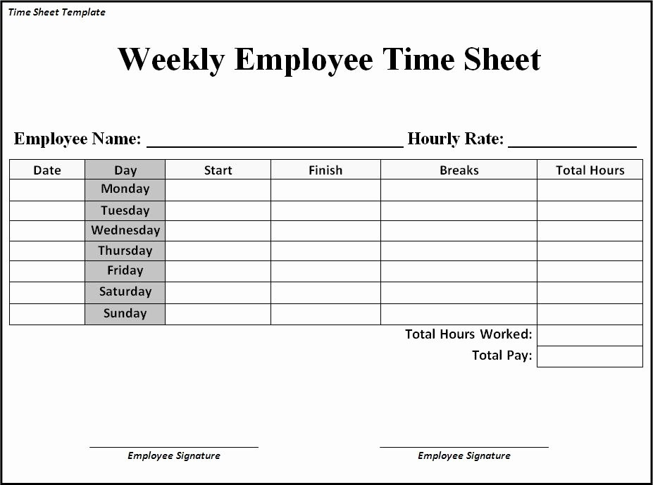 Employee Time Cards Template Free Beautiful 9 Best Of Free Printable Time Sheets Templates