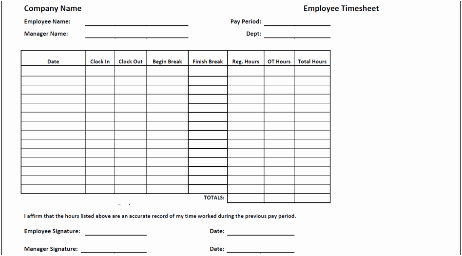 Employee Time Cards Template Free Beautiful Timesheet Templates