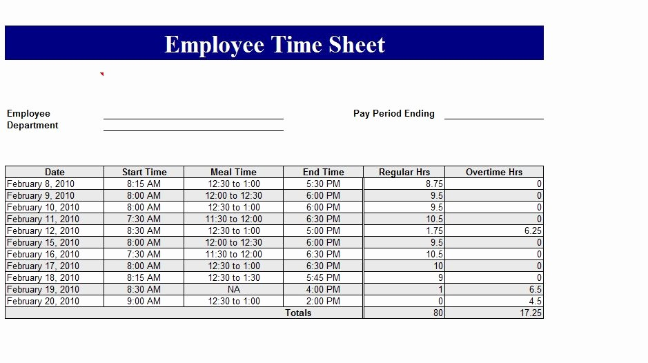 Employee Time Cards Template Free Inspirational How to Make Timecard In Excel Step 4 Payroll and Time