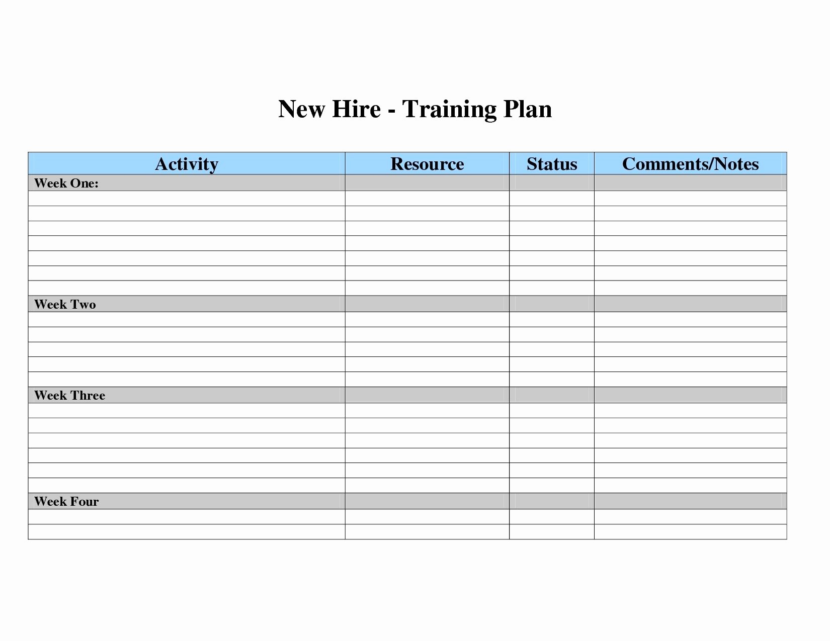 Employee Training Plan Template Excel Awesome Free Employee Training Matrix Template Excel New Employee