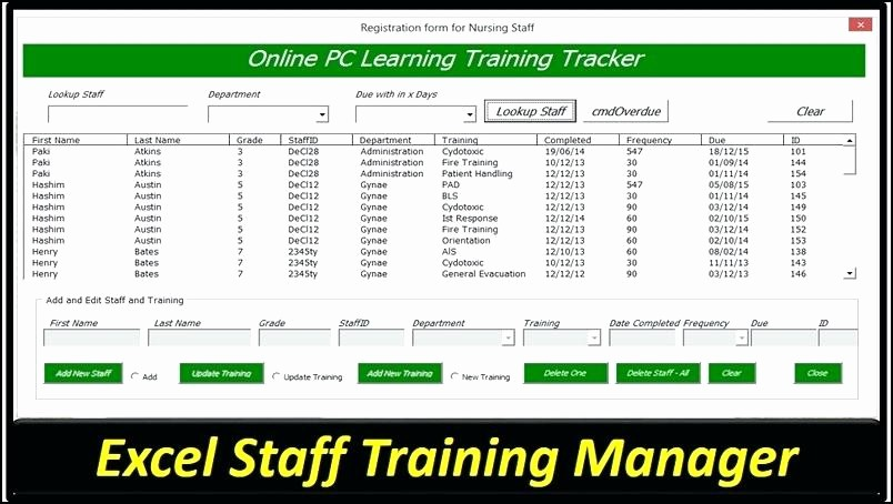 Employee Training Plan Template Excel Best Of Employee attendance Sheet In Excel Free Download Training