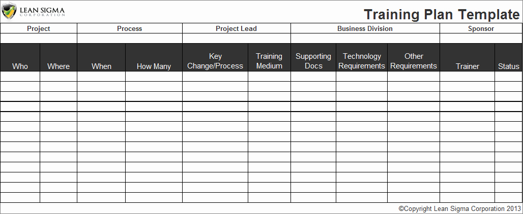 Employee Training Plan Template Excel Fresh Employee Training Plan Template