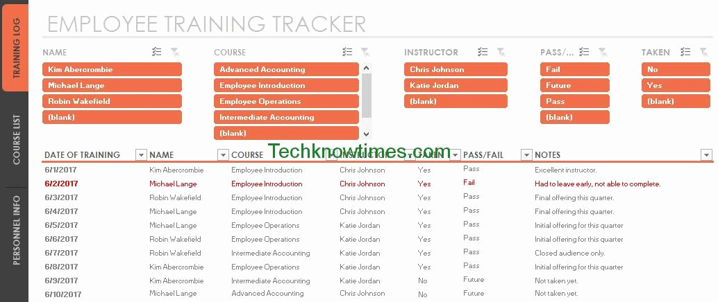 Employee Training Plan Template Excel Lovely Employee Training Tracker Template Excel
