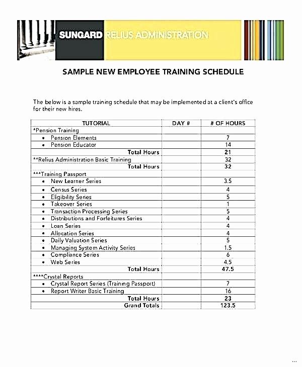 Employee Training Plan Template Excel Unique Training Schedule for Employees Template Employee New