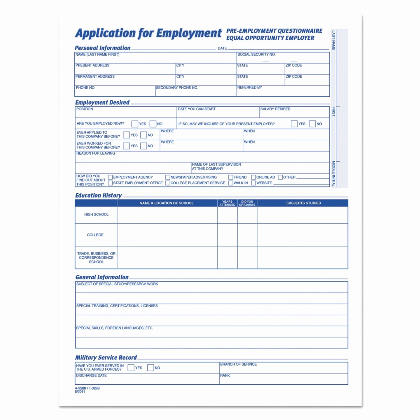 Employment Application forms Free Download Unique Inspirational Printable Application for Employment