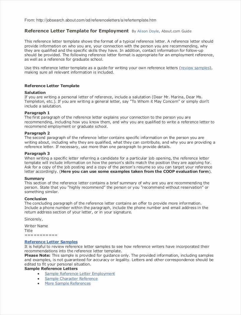 Employment Letters Of Recommendation Samples Fresh 9 Employee Reference Letter Examples & Samples In Pdf