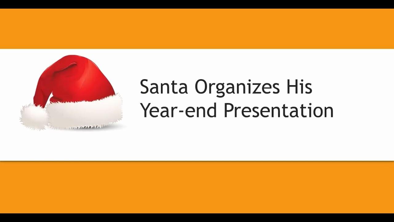 "End Of the Year Slideshow Fresh Sneak Peek Video ""santa organizes His Year End"