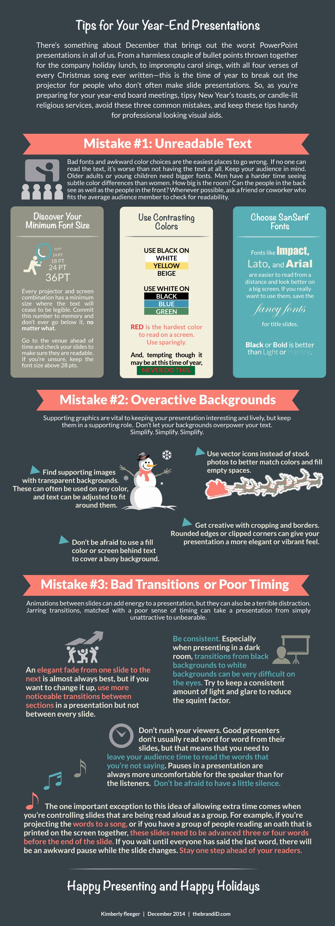 End Of the Year Slideshow Luxury Year End Presentation Tips Infographic