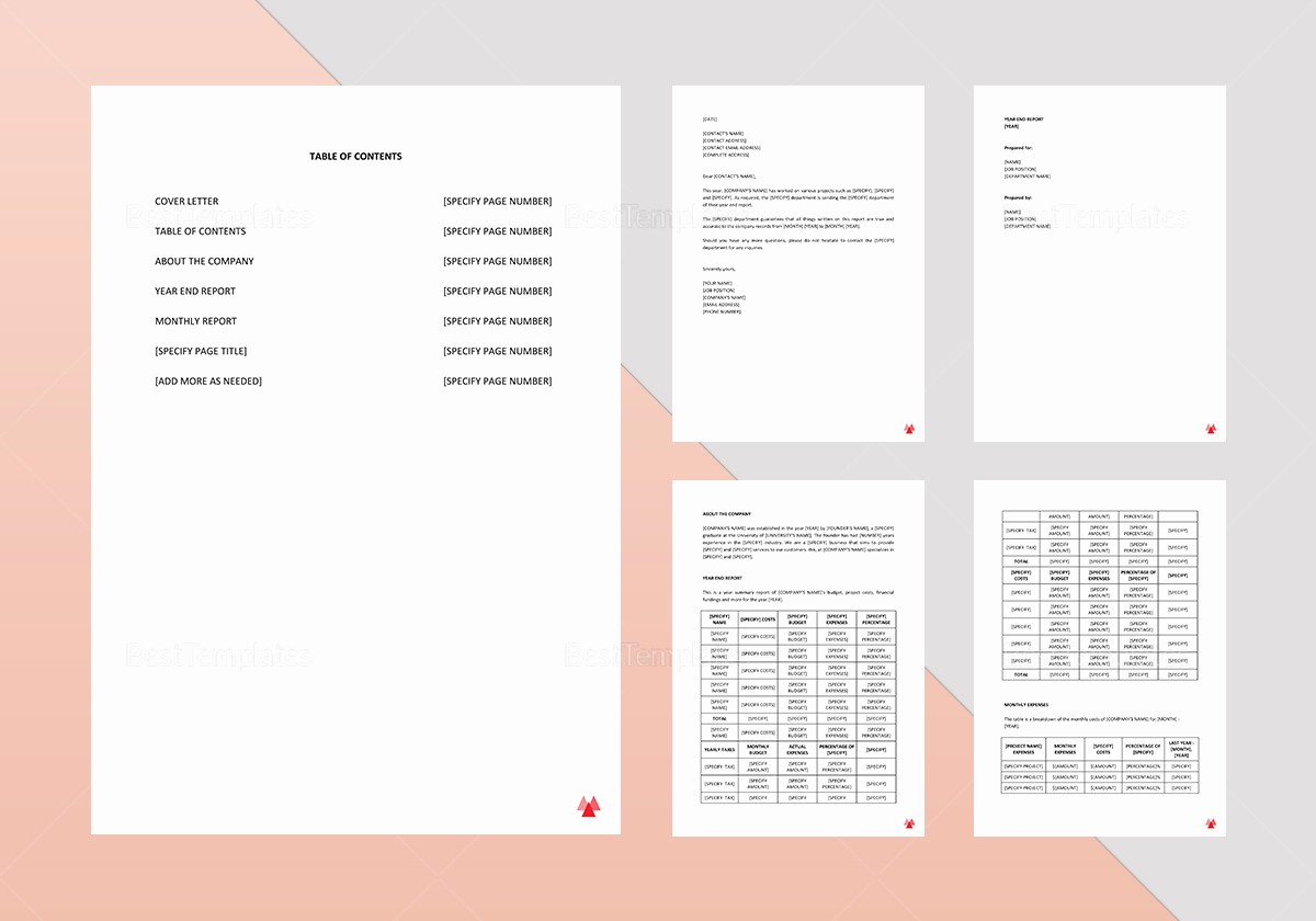 End Of Year Reports Templates Beautiful Year End Report Template In Word Google Docs Apple Pages