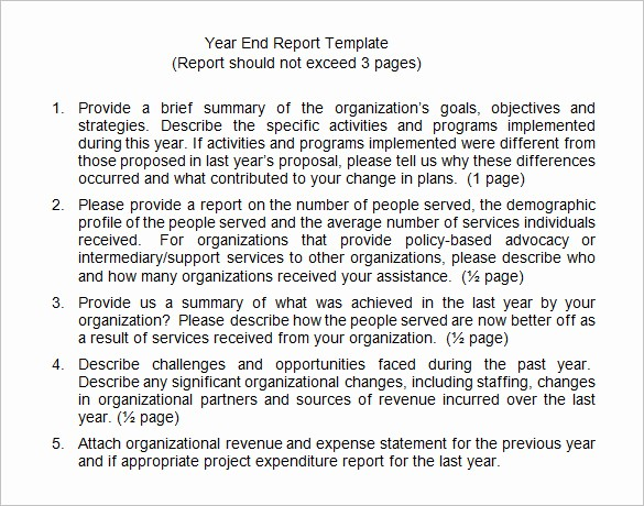End Of Year Reports Templates Elegant 18 End Of Year Report Templates Free Sample Example